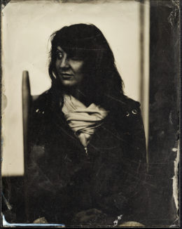 Wet plate collodion ambrotype, 7 x 9 inches.