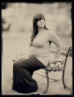 Wet plate collodion ambrotype,  6.5 x 8.5  inches