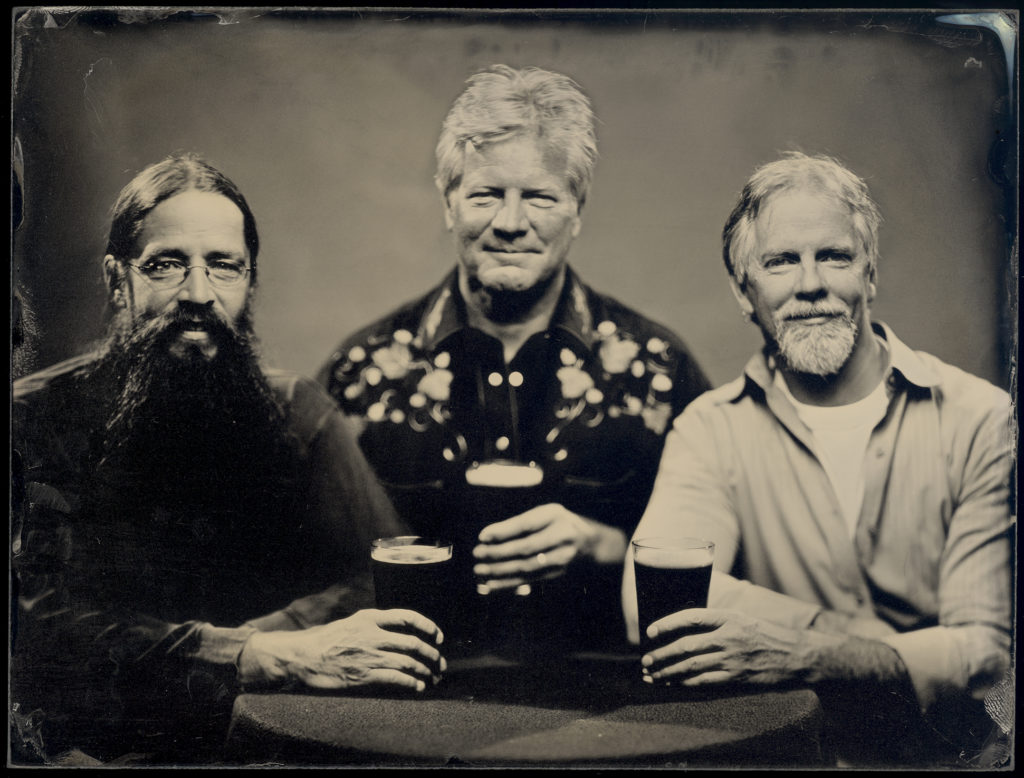 Elliott Bay Brewing's Bill Jenkins pictured with Elysian Brewing's Dick Cantwell and Jason Parker, courtesy Daniel Arutro Carrillo-Lozano
